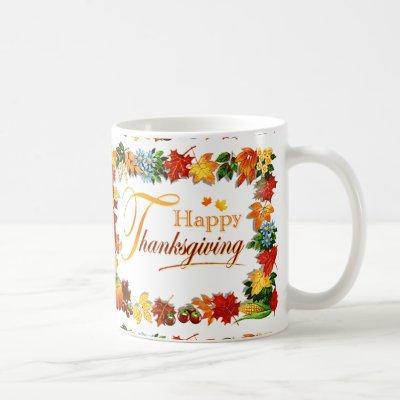 Elegant Happy Thanksgiving Greetings Coffee Mug