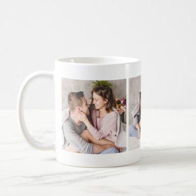 Elegant Loving Couple Photo Collage Mug
