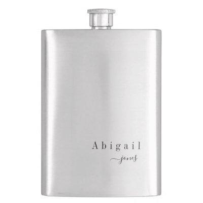 Elegant Minimalist Script Name personalized Flask
