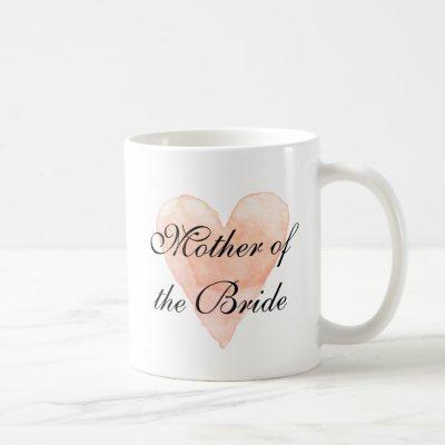 Elegant mother of the bride wedding coffee mug
