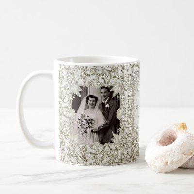 Elegant Pearl 30th Wedding Anniversary Photo Coffee Mug