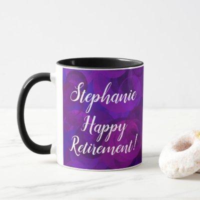 Elegant Purple Personalized Retirement Office Mug