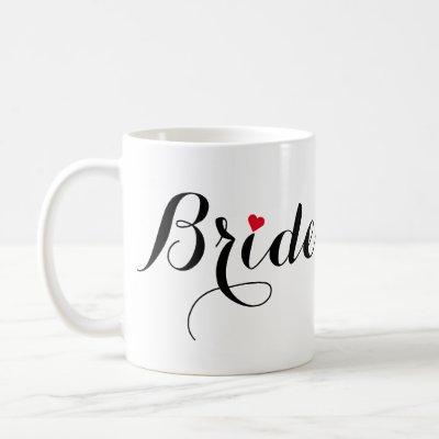 Elegant Script Bride Bridal Shower Wedding Party Coffee Mug