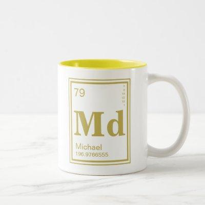 Element of You! Gold Element Custom Name Two-Tone Coffee Mug