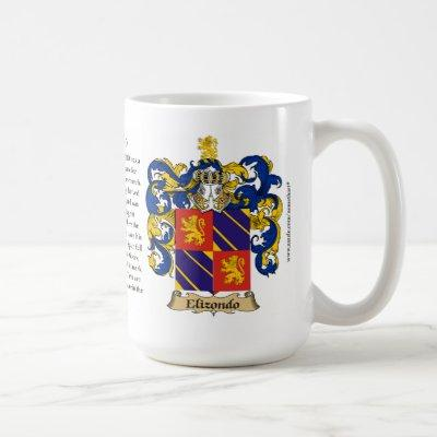 Elizondo, the Origin, the Meaning and the Crest Coffee Mug