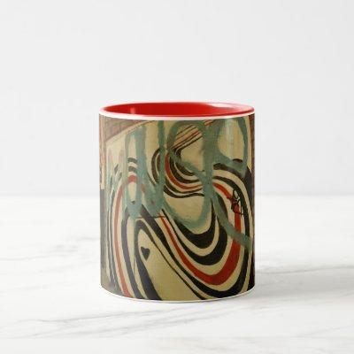 Elliott Smith Memorial Wall Two-Tone Coffee Mug