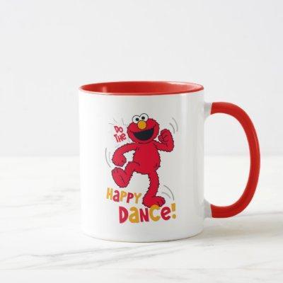 Elmo   Do the Happy Dance Mug