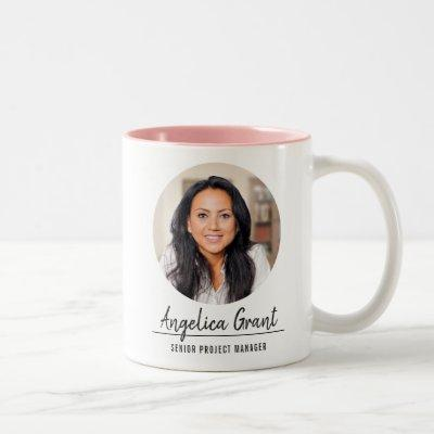 Employee Appreciation | Custom Logo | Anniversary Two-Tone Coffee Mug