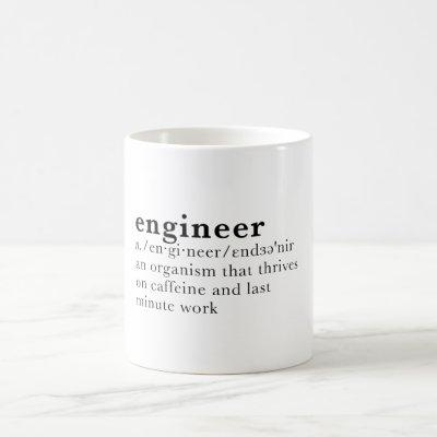 Engineer - Dictionary definition Coffee Mug