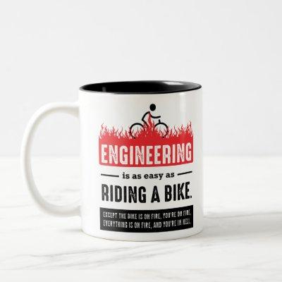 Engineering is Easy as Riding a Bike Two-Tone Coffee Mug