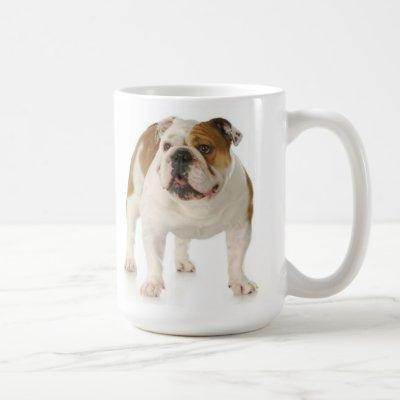 English Bulldog Puppy Dog Red Love Coffee Mug