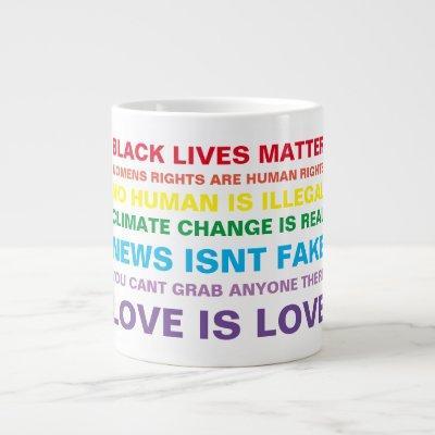 equality  black lives matter pride coffee mug