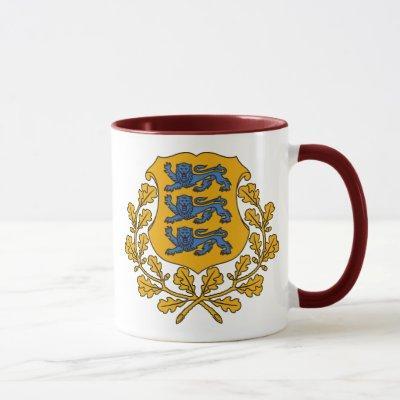 estonia emblem mug
