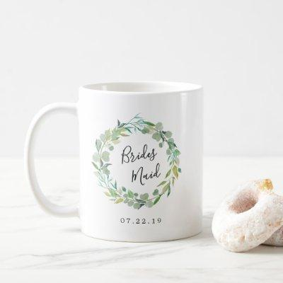 Eucalyptus Wreath Bridesmaid Coffee Mug
