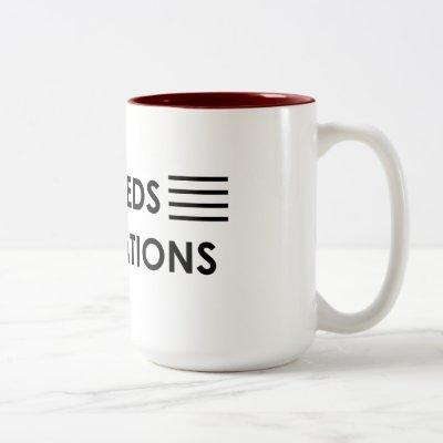 """Exceeds expectations "" Two-Tone Coffee Mug"