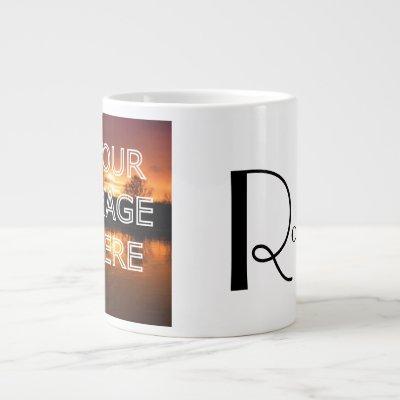 Extra Large Personalized Photo Coffee Mug