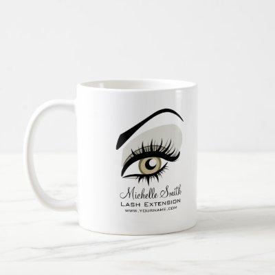 Eye long lashes Lash Extension company branding Coffee Mug