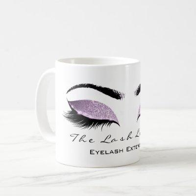 Eyelash Extention Beauty Studio  Glitter Coffee Mug