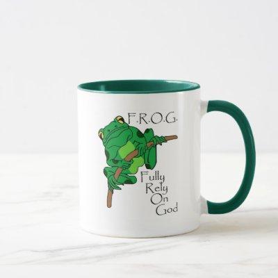 F.R.O.G. Fully Rely On God #1 Mug