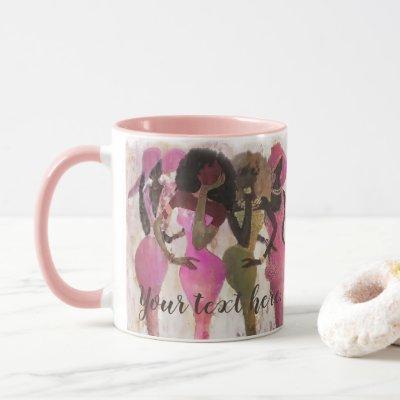 Fabulous Pink and Green Sorority Mug