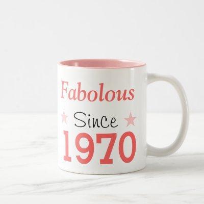Fabulous Since 1970 Two-Tone Coffee Mug