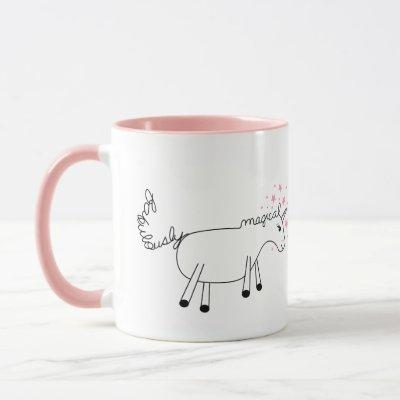 """Fabulously Magical Unicorn"" Cute mug"