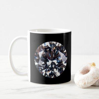 Faceted Elegant Diamond Gem Coffee Mug