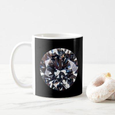 Faceted Elegant Diamond Gem Image Coffee Mug