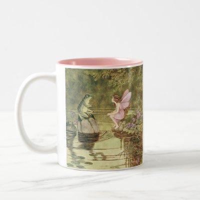Fairy and Frog Coffee Mug