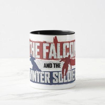 Falcon & Winter Soldier Red and Blue Graphic Mug