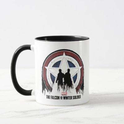 Falcon & Winter Soldier Shield Silhouettes Mug