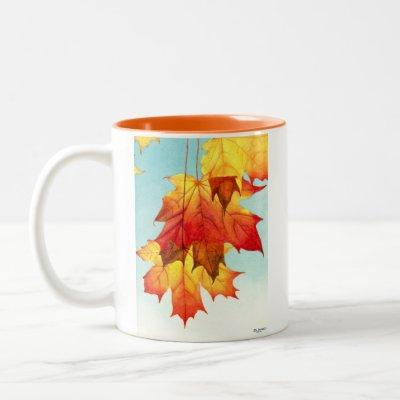 Fall is in the air! Two-Tone coffee mug