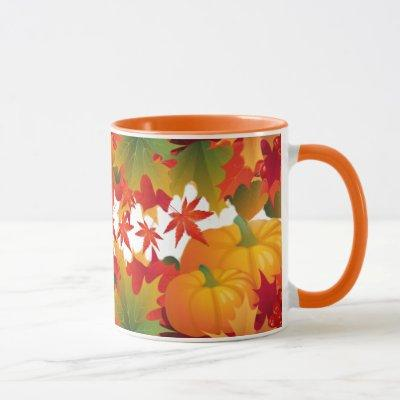 Fall Leaves and pumpkins Mug