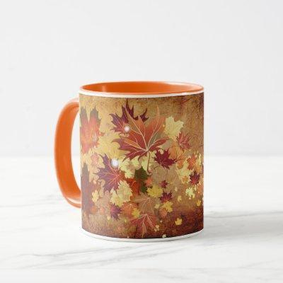 Fall Leaves (Orange) Mug