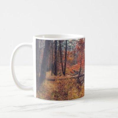 Fall river scene mug