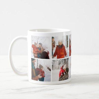Family Christmas Memories Photo Collage Mug
