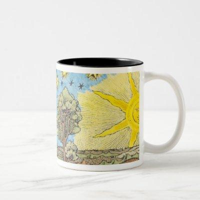 Fantastic Depiction of the Solar System Two-Tone Coffee Mug