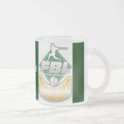 Fantasy Baseball Trophy Frosted Glass Coffee Mug