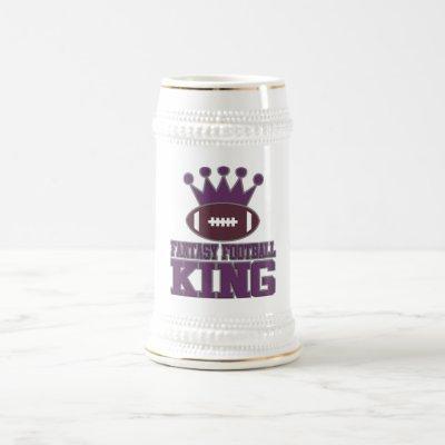 Fantasy Football King Beer Stein