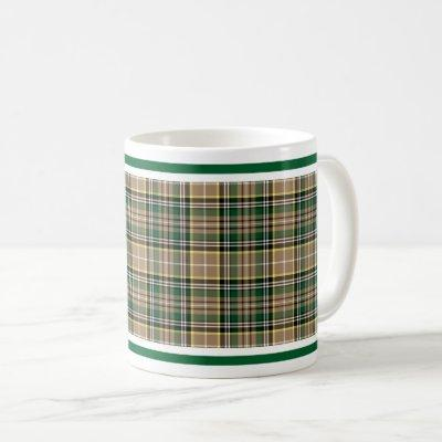 Farrell Tartan Pattern Tan Irish Plaid Coffee Mug