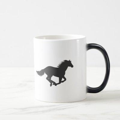 Fast Running horse silhouette Magic Mug
