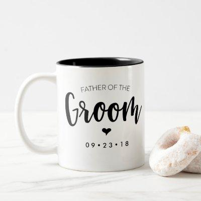 Father of the Groom Mug Personalize Your Date