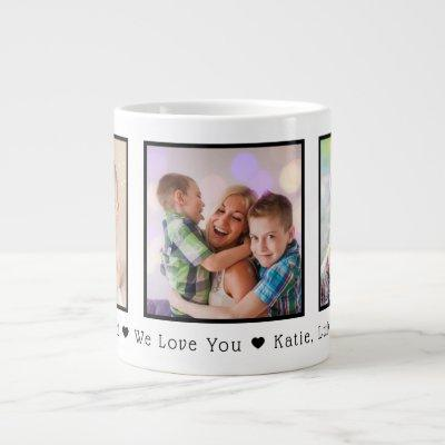 Father's Day 3 Photo Personalized Giant Coffee Mug