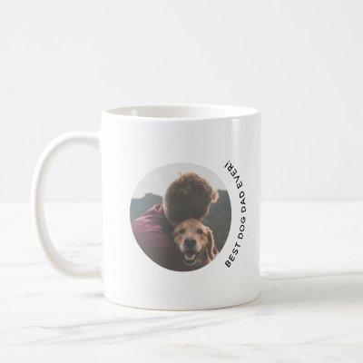 Father's Day Best Dog Dad Ever Custom Photo Coffee Mug
