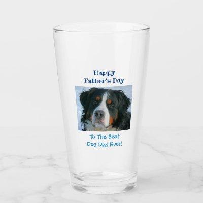 Father's Day Dog Dad Best Ever Pet Photo Beer Pint Glass