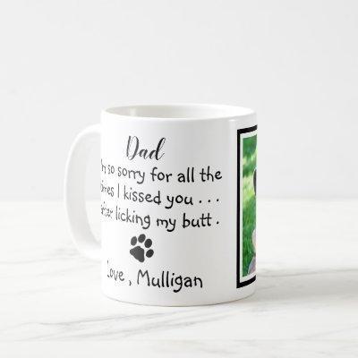 Father's Day - Funny Dog Dad Pet Photo Coffee Mug