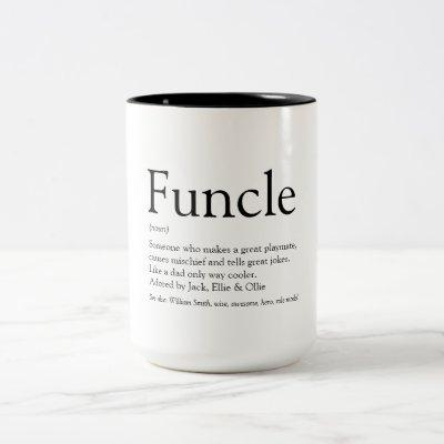 Favourite Funcle Uncle Modern Definition Two-Tone Coffee Mug
