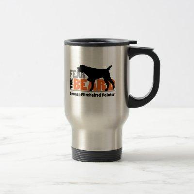 Fear the Beard - German Wirehaired Pointer Travel Mug