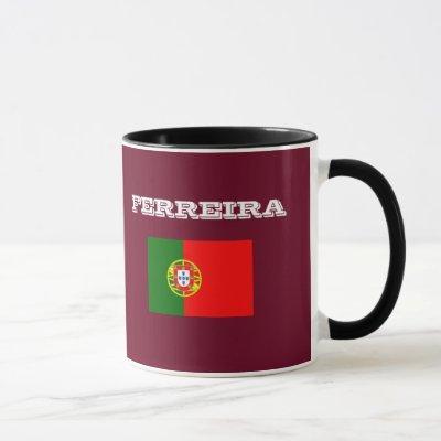 Ferreira Surname Custom  Ringer Mug