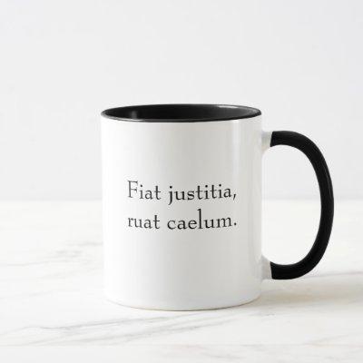 Fiat justitia, ruat caelum (without translation) mug